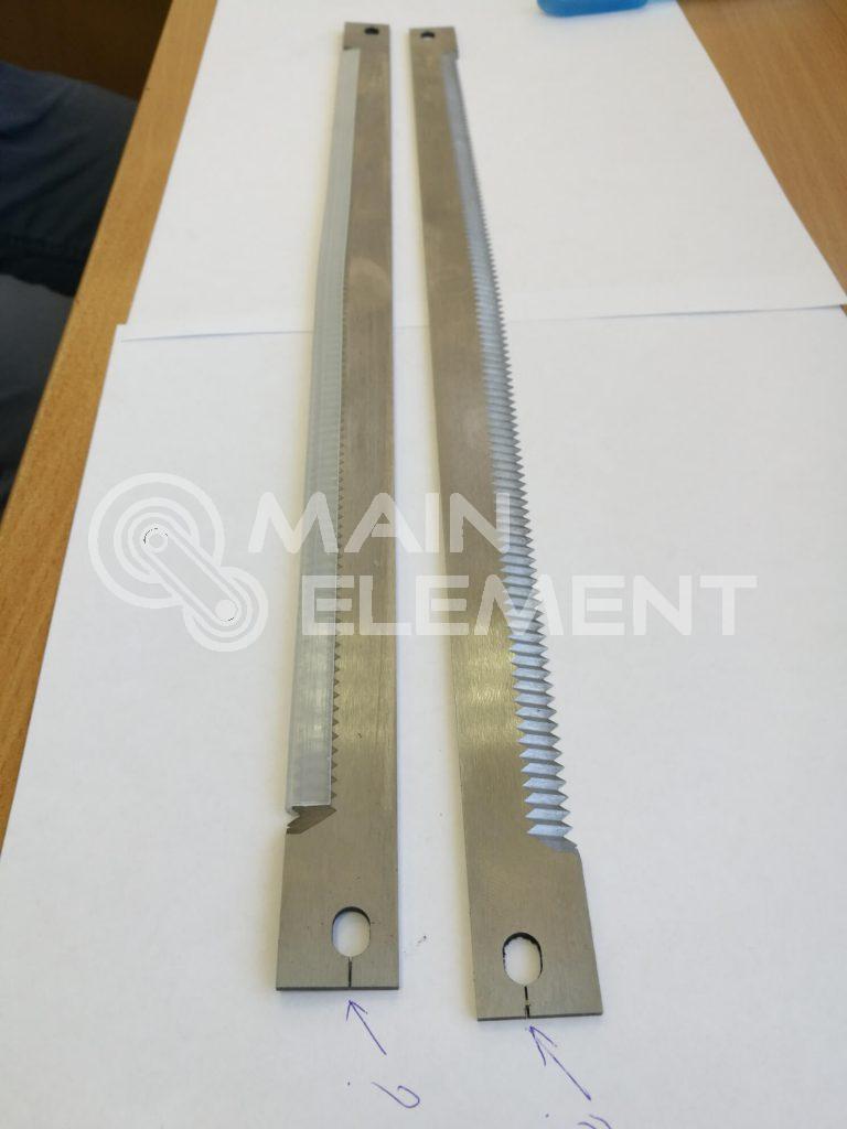Зубчатые и вырубные ножи