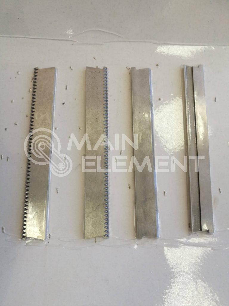 Зигзаг и плоские ножи